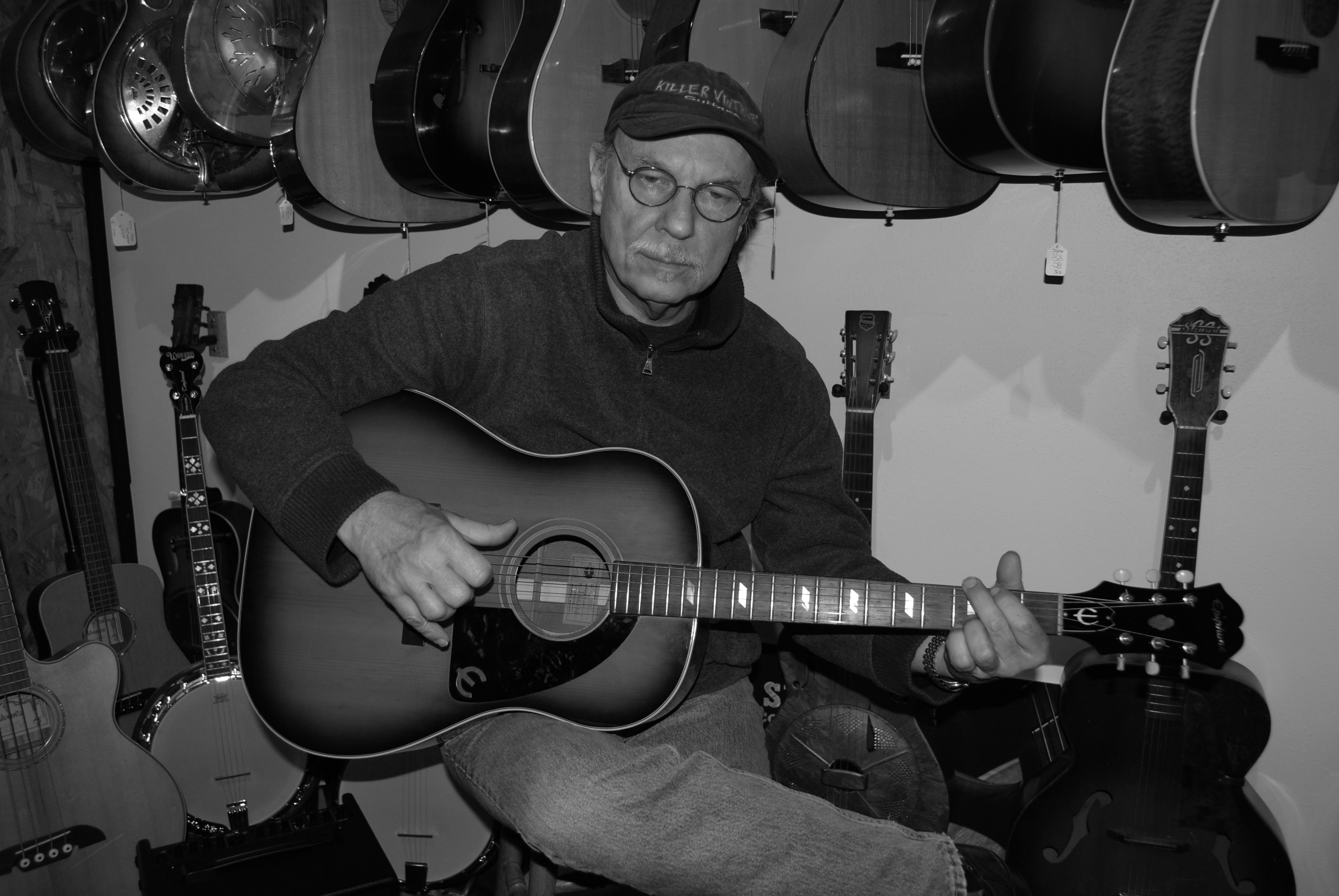Dave Hinson, owner of Killer Vintage, specializes in appraising, buying and selling of electric and acoustic guitars. PHOTO | DENNIS W. PARKS