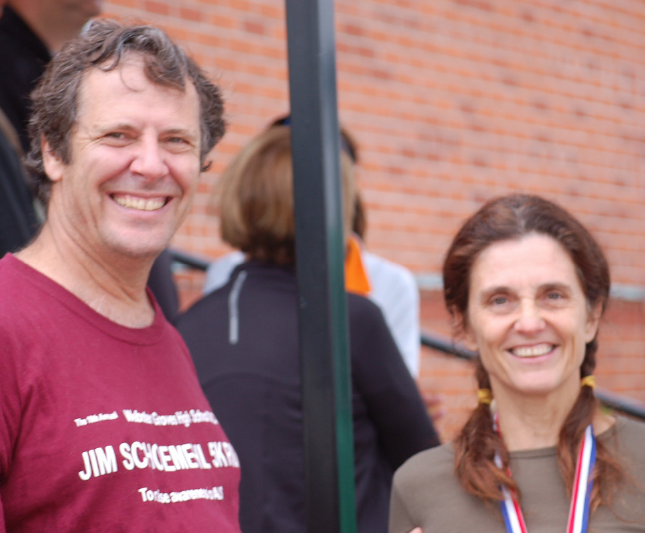 Above: Bob and his girlfriend, Liz Fonseca, after a 5K in Edwardsville, Ill.