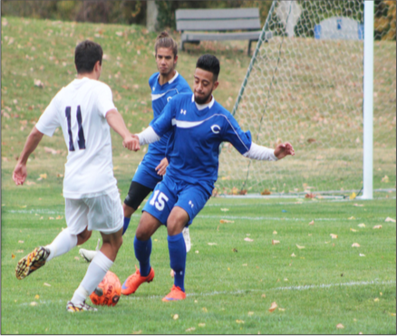 The STLCC men's soccer team defeated Crowder 2-1 on Saturday, Oct. 24. Wingman Dillon Smith scored a goal | Photo by Ashley Biundo
